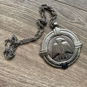 1970s Native American Large Medallion Necklace